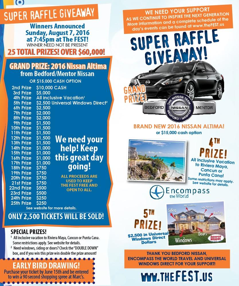 FEST 2016 Raffle Prizes